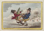 'Elements of skateing - the consequence of going before the wind', by James Gillray, published by  Hannah Humphrey, published 24 November 1805 - NPG  - © National Portrait Gallery, London