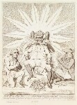 'Satan in all his glory; - or - Peter Pindar crouching to the devil' (John Wolcot; James Lowther, Earl of Lonsdale), by James Gillray, published by  Hannah Humphrey, published 8 May 1792 - NPG  - © National Portrait Gallery, London