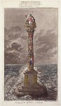'Design for the naval pillar'; Britannia, by James Gillray, published by  Hannah Humphrey, published 1 February 1800 - NPG  - © National Portrait Gallery, London