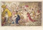 'Dilettanti-theatricals: - or - a peep at the green room', by James Gillray, published by  Hannah Humphrey, published 18 February 1803 - NPG  - © National Portrait Gallery, London
