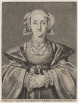 Anne of Cleves, by Wenceslaus Hollar, after  Hans Holbein the Younger, 1648 - NPG  - © National Portrait Gallery, London