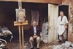 David Hockney; Lucian Freud, by David Dawson, 2003 - NPG  - © David Dawson