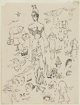 Probably costume designs for 'Turandot', by Cecil Beaton, probably early 1960s - NPG  - © National Portrait Gallery, London