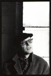 John Hegley, by Nik Strangelove, 15 December 1993 - NPG  - © Nik Strangelove / http://www.nikstrangelove.com / National Portrait Gallery, London