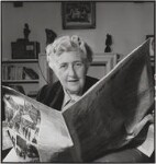 Agatha Christie, by John Gay, published February 1949 - NPG  - © National Portrait Gallery, London