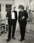 Max Wall; Maggi Hambling, by Prudence Cuming, 21 December 1982 - NPG  - © National Portrait Gallery, London