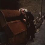 Max Wall as Davies in Harold Pinter's 'The Caretaker', by Paul Joyce, November 1977 - NPG  - © Paul Joyce / National Portrait Gallery, London