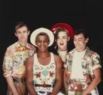 Culture Club (Roy Hay; Mikey Craig; Boy George; Jon Moss), by Eric Watson, 1982 - NPG  - © Eugene and Willa Watson / National Portrait Gallery, London