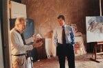 'Early morning visit from Neil MacGregor' (Lucian Freud; Neil MacGregor), by David Dawson, 2002 - NPG  - © David Dawson