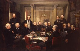 Gladstone's Cabinet of 1868, by Lowes Cato Dickinson, 1869-1874 - NPG 5116 - © National Portrait Gallery, London