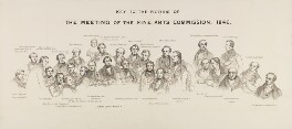 Key to 'The Fine Arts Commissioners, 1846', by Sir George Scharf - NPG 343c