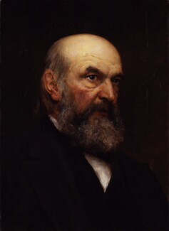 John Couch Adams, by Sir Hubert von Herkomer - NPG 1842