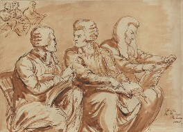 William Adams, James Parke, 1st Baron Wensleydale and Sir Christopher Robinson, by Sir George Hayter - NPG 1695(h)