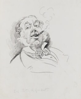 Sir William Agnew, 1st Bt, by Harry Furniss, 1880s -NPG 3413 - © National Portrait Gallery, London