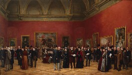 Private View of the Old Masters Exhibition, Royal Academy, 1888, by Henry Jamyn Brooks, 1889 -NPG 1833 - © National Portrait Gallery, London