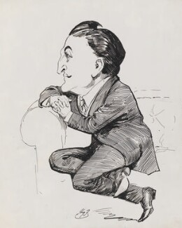 Henry Hinchliffe Ainley, by Harry Furniss, 1905 - NPG 3414 - © National Portrait Gallery, London