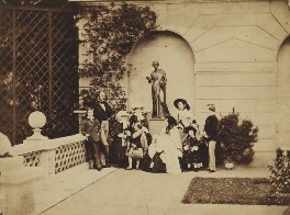 The Royal Family on the terrace of Osborne House, by Leonida Caldesi, 1857 - NPG P26 - © National Portrait Gallery, London