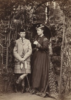Prince Leopold, Duke of Albany; Princess Louise Caroline Alberta, Duchess of Argyll, by W. & D. Downey, 1868 - NPG P22(7) - © National Portrait Gallery, London