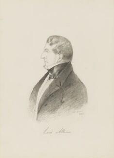 Joshua William Allen, 6th Viscount Allen, by Alfred, Count D'Orsay, 1838 - NPG 4026(1) - © National Portrait Gallery, London