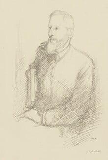 (Charles) Grant Blairfindie Allen, by Sir William Rothenstein, 1897 - NPG 3998 - © National Portrait Gallery, London