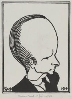 Sir Norman Angell, by Edmond Xavier Kapp - NPG 5129