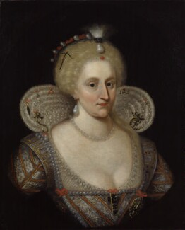 Anne of Denmark, after Paul van Somer, 17th century, based on a work of circa 1617 - NPG 127 - © National Portrait Gallery, London