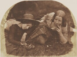 Mary McCandlish; Margaret Arkley (née McCandlish), by David Octavius Hill, and  Robert Adamson - NPG P6(177)
