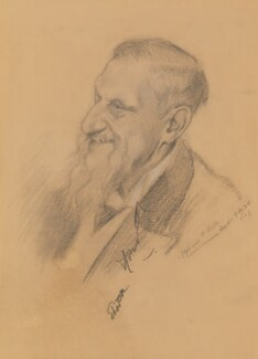 Sir Edwin Arnold, by Alphaeus Philemon Cole - NPG 2455