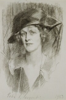 Nancy Astor, Viscountess Astor, by John Singer Sargent, 1923 - NPG 4885 - © National Portrait Gallery, London