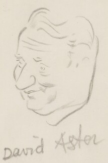 (Francis) David Langhorne Astor, by Sir David Low, 1950s? - NPG 4529(5) - © Solo Syndication Ltd