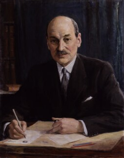 Clement Attlee, by George Harcourt - NPG 4593
