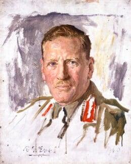 Sir Claude Auchinleck, by Reginald Grenville Eves - NPG 4639