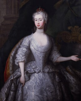Augusta of Saxe-Gotha, Princess of Wales, by Charles Philips, circa 1736 - NPG 2093 - © National Portrait Gallery, London