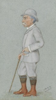 Alfred Austin, by Sir Leslie Ward, published in Vanity Fair 20 February 1896 - NPG 1768 - © National Portrait Gallery, London