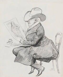 Allan Aynesworth, by Harry Furniss, 1880s-1900s - NPG 3416 - © National Portrait Gallery, London