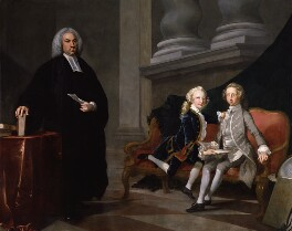 Francis Ayscough with the Prince of Wales (later King George III) and Edward Augustus, Duke of York and Albany, by Richard Wilson - NPG 1165