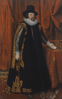 Francis Bacon, 1st Viscount St Alban, by Unknown artist, after 1731, based on a work of circa 1618 - NPG 1288 - © National Portrait Gallery, London