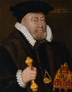 Sir Nicholas Bacon, by Unknown artist, inscribed 1579 - NPG 164 - © National Portrait Gallery, London