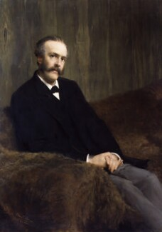 Arthur James Balfour, 1st Earl of Balfour, by Sir Lawrence Alma-Tadema - NPG 2949