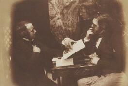 A Discussion, by David Octavius Hill, and  Robert Adamson, 1843-1848 - NPG P6(143) - © National Portrait Gallery, London
