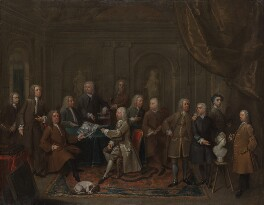 'A Conversation of Virtuosis...at the Kings Arms', by Gawen Hamilton, 1735 - NPG 1384 - © National Portrait Gallery, London