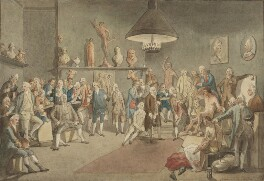 The Academicians of the Royal Academy, by John Sanders, after  Johan Joseph Zoffany - NPG 1437