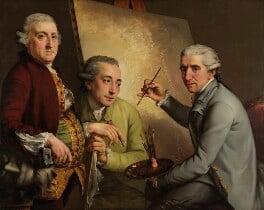 Agostino Carlini; Francesco Bartolozzi; Giovanni Battista Cipriani, by John Francis Rigaud, 1777 - NPG 3186 - © National Portrait Gallery, London