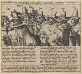 The Gunpowder Plot Conspirators, 1605, by Crispijn de Passe the Elder, circa 1605 - NPG 334a - © National Portrait Gallery, London