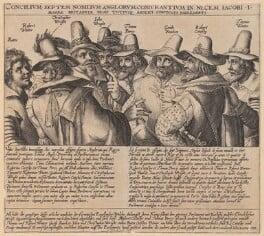 The Gunpowder Plot Conspirators, 1605, by Crispijn de Passe the Elder, circa 1605 - NPG 334a - © National Portrait Gallery, London