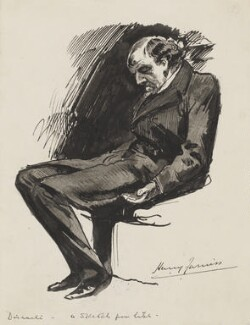 Benjamin Disraeli, Earl of Beaconsfield, by Harry Furniss - NPG 3342