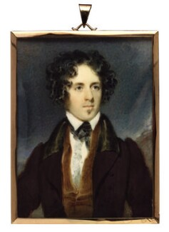 Unknown man, formerly known as Benjamin Disraeli, Earl of Beaconsfield, attributed to Kenneth Macleay, circa 1830s-1840s - NPG 1293 - © National Portrait Gallery, London