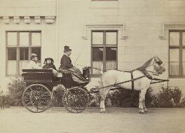 Princess Louise Caroline Alberta, Duchess of Argyll, Princess Beatrice of Battenberg and Queen Victoria driving, by Henry Joseph Whitlock - NPG P22(1)
