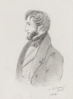 Henry Somerset, 7th Duke of Beaufort, by Alfred, Count D'Orsay, 1838 - NPG 4026(5) - © National Portrait Gallery, London