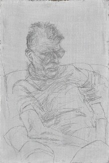 Samuel Beckett, by Avigdor Arikha, 1971 - NPG  - © National Portrait Gallery, London